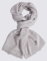 M&S Collection Sparkle Striped Scarf
