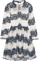 Maje Embroidered Lace Dress - Navy