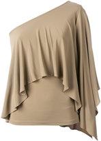 Plein Sud Jeans ruffled one-shoulder top - women - Viscose/Spandex/Elastane - 42