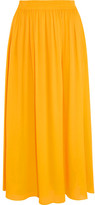 Emilio Pucci Georgette Midi Skirt - Yellow