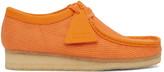 Clarks Orange Canvas Wallabee Moccasins