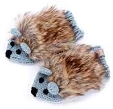 Peppercorn Kids Faux Fur Hedgehog Mittens - - Lxl (6-12Yr)