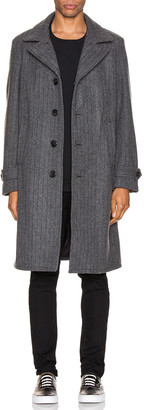 Schott Belder Wool Coat in Charcoal | FWRD