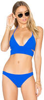 Sauvage Mon Cheri Banded Bikini Top in Blue. - size L (also in M,S)