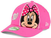 New Era Girls' Washington Nationals Face-Front Minnie 9FORTY Cap
