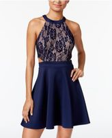 Speechless Juniors' Lace Cutout A-Line Dress, A Macy's Exclusive