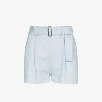 BONDI BORN Utility linen shorts