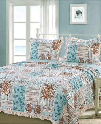 Greenland Home Fashions Key West Quilt Set, 3-Piece Full/Queen Bedding