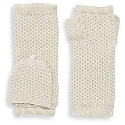 Portolano Women's Flip-Top Fingerless Cashmere Mittens