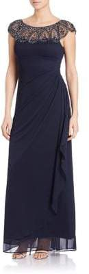 Xscape Evenings Embellished Mock Wrap Gown
