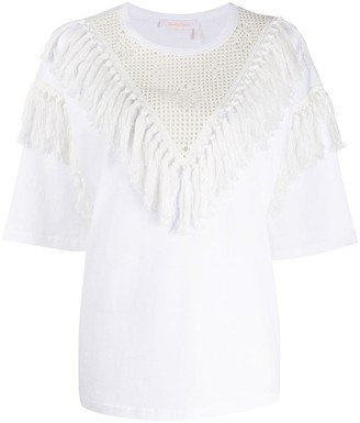 See by Chloe Oversized tassel T-shirt