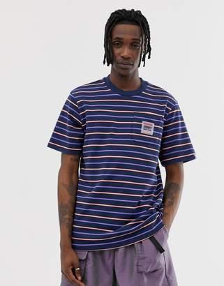 Billionaire Boys Club woven stripe pocket t-shirt in navy