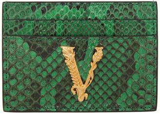 Versace Green Virtus Card Holder