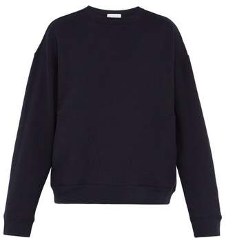 Raey Crew-neck Japanese-jersey Sweatshirt - Mens - Navy