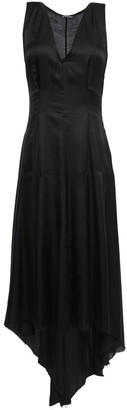 Ann Demeulemeester Asymmetric Satin Midi Dress