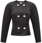 Christopher Kane Dome-embellished Satin Jacket - Womens - Black