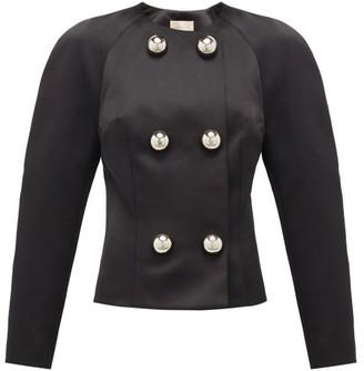 Christopher Kane Dome-embellished Satin Jacket - Black