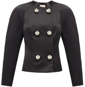Christopher Kane Dome-embellished Satin Jacket - Womens - Black