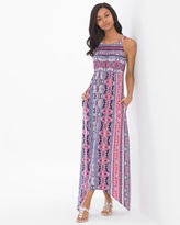 Soma Intimates Sleeveless High Neck Midi Dress Scarf Tile Pink