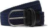Anderson's - 3.5cm Leather-trimmed Woven Velvet Belt