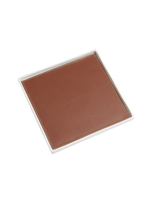 Dragonfly Singular Square Tray, Brown S