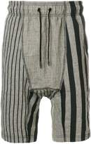 Tom Rebl printed drop-crotch shorts