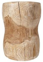 Andrianna Shamaris Hand-Carved Teak Wood Stool