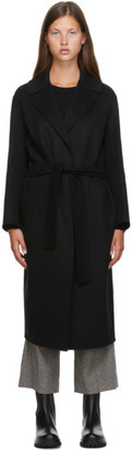 S Max Mara Black Wool Lugano Coat