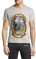 Just Cavalli Skull-Print Graphic T-Shirt, Gray