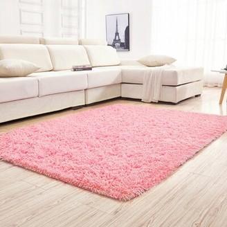 """Mercer41 Pinckard Ultra Soft Children Pink Area Rug Mercer41 Rug Size: Rectangle 4' x 5'4"""""""