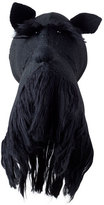 Fiona Walker England Black Scottie Dog Head Wall Mount