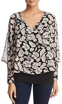 Avec Floral Overlay Top