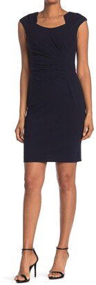 Calvin Klein Horseshoe Neck Sheath Dress