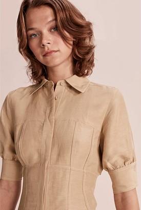Country Road Button Through Shirt Dress