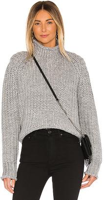 MinkPink Stevie High Neck Knit Sweater