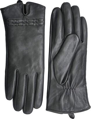 YISEVEN Women Touchscreen Lambskin Suede Leather Gloves Slim Elegant Fleece Lined Hand Warm for Winter Accessories Dress Driving Work gift