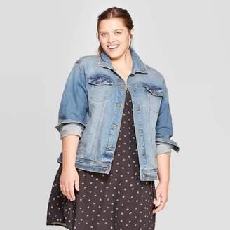 Universal Thread Women's Plus Size Jean Jacket - Universal ThreadTM Medium Wash