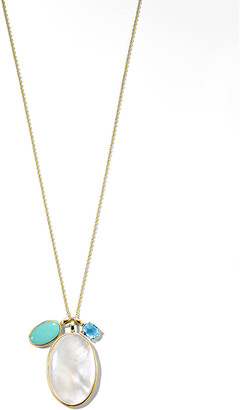Ippolita 18K Luce 3-Stone Pendant Necklace, Cascata