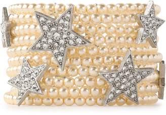 Ben-Amun Ben Amun Silver-tone, Faux-pearl And Crystal Bracelet