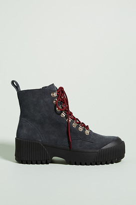 Jeffrey Campbell Finches Hiker Boots By in Grey Size 7