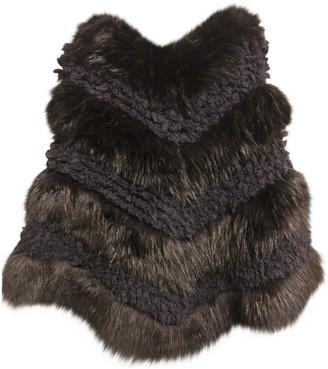 Pinko Black Faux fur Coat for Women