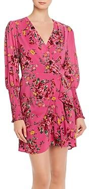 WAYF Rosie Puff-Sleeve Wrap Dress