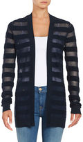 MICHAEL Michael Kors Mesh Striped Cardigan
