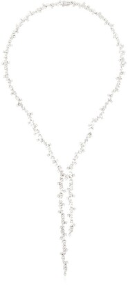 Suzanne Kalan Fireworks 18kt white gold diamond pendant necklace
