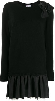 RED Valentino Knitted Peplum Hem Dress