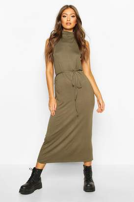boohoo Roll Neck Sleeveless Midaxi Dress