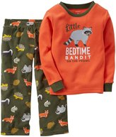 Carter's 2 Piece PJ Set (Toddler/Kid) - Green Animals-2T