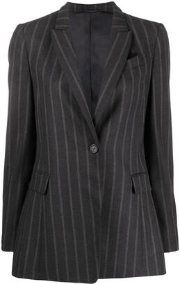 Brunello Cucinelli Pinstripe Wool Blazer