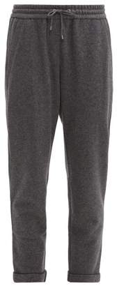 Brunello Cucinelli Bead-embellished Cashmere-blend Track Pants - Womens - Mid Grey