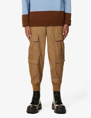Neil Barrett Ribbed-cuff cotton-blend cargo trousers